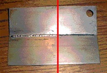 Back of weld
